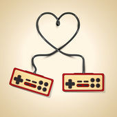 Vector vintage controler love — Vector de stock