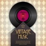 Vector retro vinyl music event poster — Stock Vector