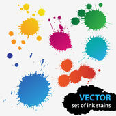 Vector colorful set of grunge stains background textures — Stock Vector