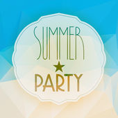 Vector abstract summer party background — Stock Vector
