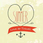 Vector Summer background, Love to travel — Stock Vector