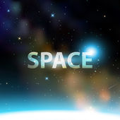 Vector space illustration background with Milky Way — Stock Vector