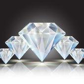 Vector shiny diamonds — Stock Vector
