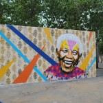 Nelson Mandela Graffiti — Stock Photo