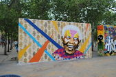 Nelson Mandela Graffiti — Stock Photo