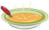 Dish of soup — Stock Vector