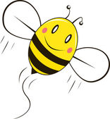 Happy bee — Vector de stock