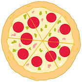 Delicious Pizza — Vector de stock