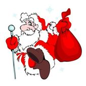 Santa Claus with a bag — Stockvector
