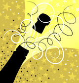 Holiday sparks of a champagne — Stock Vector