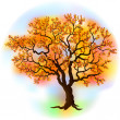 Beautiful autumn tree — Stock Vector