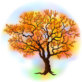 Beautiful autumn tree — Stockvector