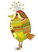 Drawing of a cute cartoon bird — Stock Vector