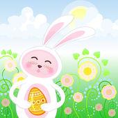 Easter rabbit — Stockvektor