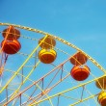 Ferris wheel on a sunny day — Stock Photo #25640859