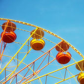 Ferris wheel on a sunny day — Stock Photo