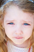 Portrait of little girl crying — Stock Photo