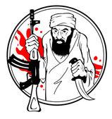 Terrorista — Vector de stock