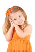Cute little girl smiling — Stock Photo