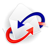 Symbol of incoming and outgoing mail — Stockvector
