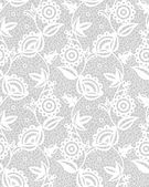 Seamless white floral lace pattern — Stock Vector