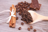 Coffee skin scrub — Stockfoto