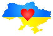 Silhouette of Ukraine — Stock Vector