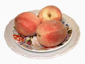 Three peaches — Stock Photo