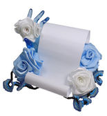 Paper and roses — Stock Photo