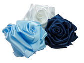 Three silk roses — Stock Photo