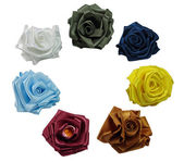 Roses from silk — Stock Photo