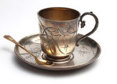 Antiquarian silver cup — Photo