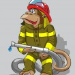 Monkey - fireman — Stock Vector #25655543