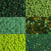 Green beads macro — Stock Photo