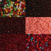 Sets of red beads — Stock Photo