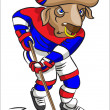 Buffalo - the hockey player — Stock Vector