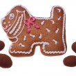 Stock Photo: Gingerbread doggie