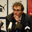 Laurent Robert Blanc coach of france football team on game in Minsk, Belarus 03 june 2011 — Stock Photo