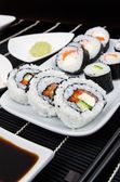 Plate with sushi set — Stock Photo
