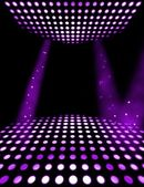 Dance floor disco poster background. Illuminated spotlights — Stock Photo