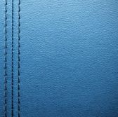 Blue leather with seam — Stock Photo