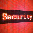 Security word on lcd-styled display — Stock Photo