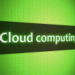 Cloud computing words on lcd-styled display — Stock Photo