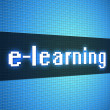 Stock Photo: E-learning word on lcd-styled display