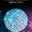 Disco ball poster background for party event - Stock Photo