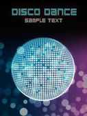 Disco ball poster background for party event — Stock Photo