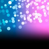 Abstract background with bokeh lights and stars — 图库照片