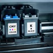 Foto Stock: Computer printer ink cartridges