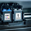 Stock Photo: Computer printer ink cartridges