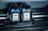 Computer printer ink cartridges — Stock Photo